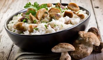 Простой рецепт ризотто с грибами