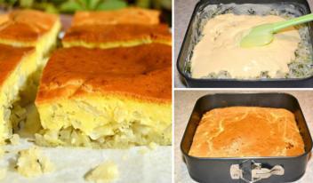 Простой заливной пирог с капустой: пошаговый рецепт