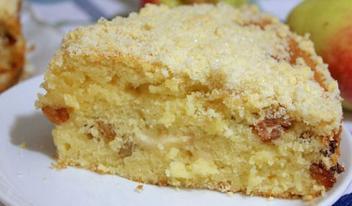 Рассыпчатый нежный яблочный пирог: пошаговый рецепт