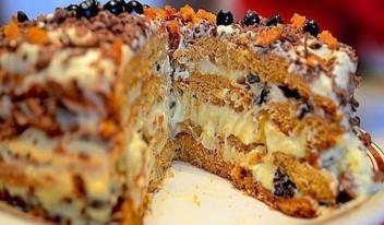 Рецепт домашнего торта «Трухлявый пень» с вареньем. Быстрый и вкусный десерт!