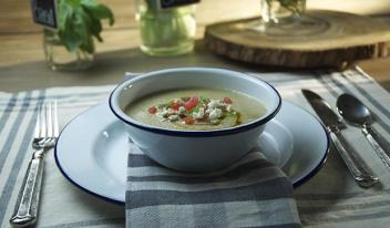 Рецепт гаспачо из огурцов, арбуза и йогурта