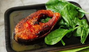 Рецепт лосося под острым цитрусовым соусом
