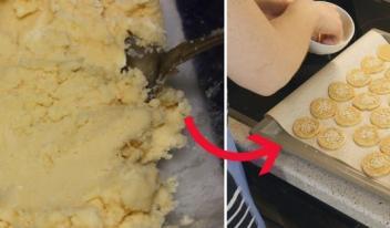 Рецепт приготовления необычного сырного печенья