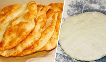 Рецепт приготовления необычных венгерских лепешек Лангоши