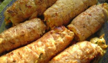 Рецепт приготовления рулетиков «Боярских» из куриной грудки