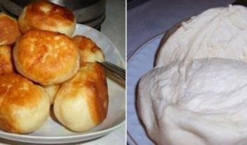 Рецепт приготовления универсального теста для пирожков без дрожжей