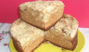 Рецепт пышного медового пирога с яблоками