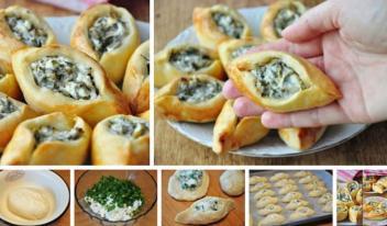 Рецепт восточных пирожков с нежным сыром фета