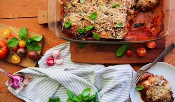 Рецепт запеканки из баклажанов с пармезаном