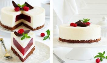 Сливочно-малиновый торт-суфле. Очень вкусный получается!