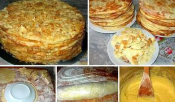 Старинный рецепт приготовления торта «Наполеон»