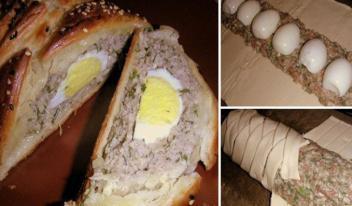 Сытный мясной рулет с яйцом: пошаговый рецепт