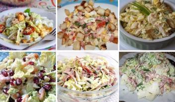 ТОП-6  вкусных и простых рецептов салатов с пекинской капустой