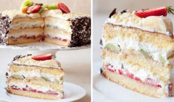 Торт «Сама Нежность». Воздушный бисквит с тающим во рту кремом!