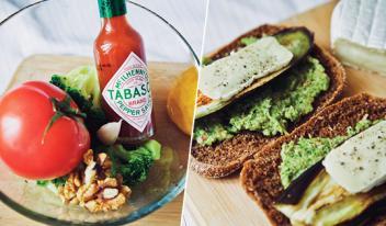 Вегетарианский сэндвич с баклажаном и соусом из брокколи