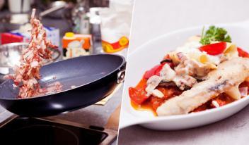 Венгерская кухня: Балконский сом с лазаньей