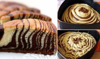 Вкуснейший пирог «Зебра». Не займет много времени!