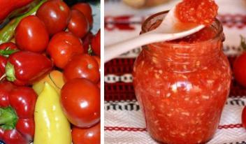 Закрываем консервацию: соус из помидоров и перца на зиму!