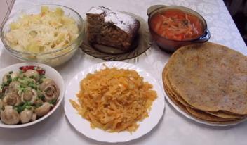 Рецепты постных блюд на Великий пост 2019