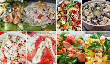 9 диетических салатов вместо ужина!
