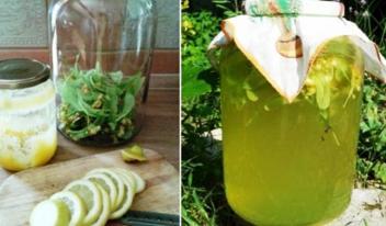 Ароматный липовый лимонад