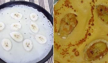 Блины с банановым припеком