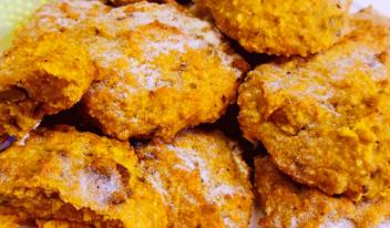Домашнее печенье из тыквы и овсяных хлопьев