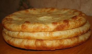Домашнее тесто для осетинских пирогов: пошаговый рецепт