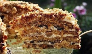 Домашний торт «Белочка» с орехами: пошаговый рецепт