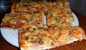 Домашняя пицца: простой и быстрый пошаговый рецепт