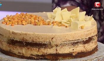 Французский торт с облепихой