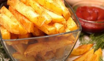 Как приготовить картошку фри за 10 минут!