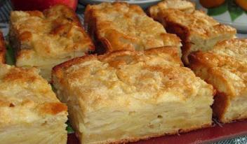 Как приготовить необычный яблочный пирог-суфле на молоке