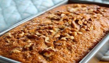 Рецепт простого и вкусного кекса с орехами и бананами!