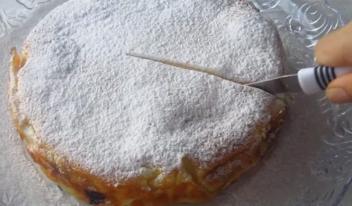 Простой и вкусный пирог с творогом «Кружева» из лаваша