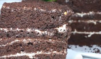 Как приготовить вкусный и пышный шоколадный бисквит на кипятке
