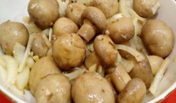 Маринованные грибы (шампиньоны) пошаговый рецепт