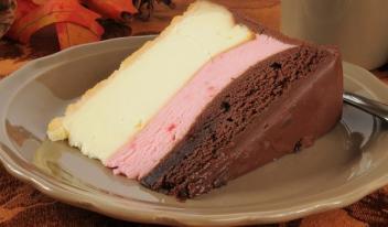 Неаполитанский сырный торт с шоколадом