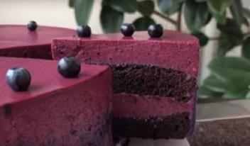 Обалденно вкусный черничный торт «Наслаждение вкусом»