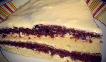 Оригинальный вкусный торт на кефире. Быстрый рецепт приготовления!