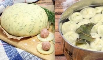 Как приготовить вкусные пельмени из теста с зеленью