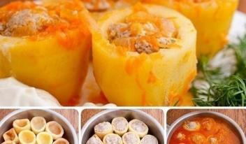 Потрясающая фаршированная картошка для семейного обеда