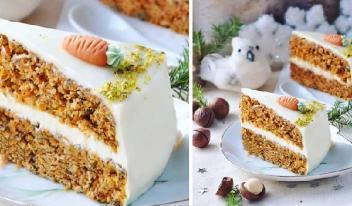 Прянично-имбирный торт с орехами