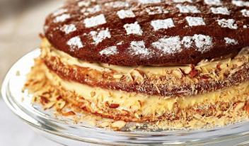 Простой пошаговый рецепт торта Медовик с орехами