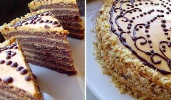 Простой рецепт шоколадного торта с вареной сгущенкой