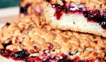 Рецепт песочного пирога с вареньем на скорую руку