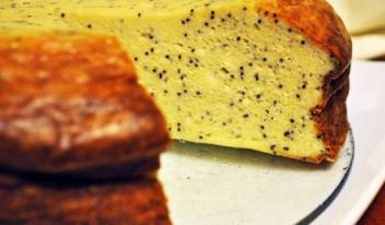 Рецепт творожной запеканки с маком и лимонной цедрой