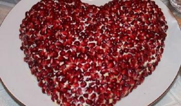 Салат «Гранатовое сердце» рецепт с фото