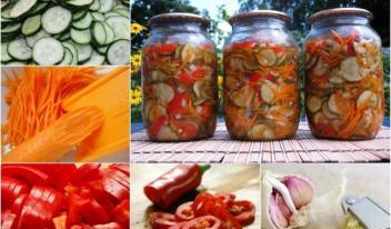 Салат «Корейская закуска из огурцов с морковью»