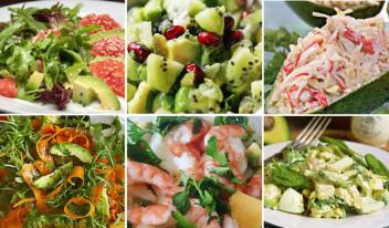 Салаты с авокадо: вкусные рецепты
